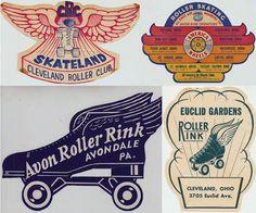 Vintage U.S Roller Skate Rink Graphics   Jordan Smith graphics