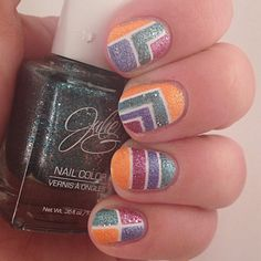 Textured Tuesday Tape Mani using Julie G polishes
