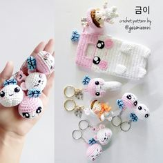 38 Ideas For Crochet Patterns Amigurumi Families Crochet Phone Cover, Crochet Case, Crochet Gifts, Diy Crochet, Crochet Toys, Kawaii Crochet, Crochet Mobile, Crochet Accessories, Phone Accessories