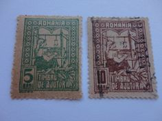 5, 10 Great Old Romania Postage Stamp.