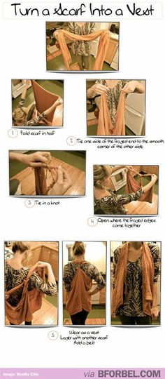 Tips & Tricks: Tie a Scarf into a Vest | B for Bel