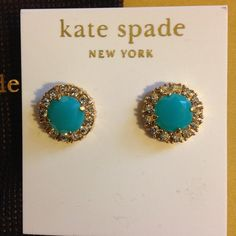 Kate Spade NWT blue earrings Hello! Comes with dust bag as shown. kate spade Jewelry Earrings