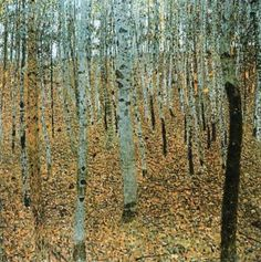 Forest of Beeches by Gustav Klimt - art print from King & McGaw