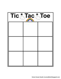 Adorable image throughout printable tic tac toe board