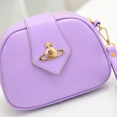 USD9.99Lovely Cute Hasp Design Solid Purple Leather Small Messenger