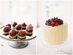 french delights and single tier buttercream fruit wedding cake #food #wedding #cake