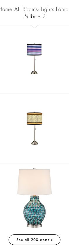 """Home All Rooms: Lights Lamps Bulbs + 2"" by gwenie-darkpath ❤ liked on Polyvore featuring home, lighting, table lamps, neon color lights, purple table lamp, purple neon lights, neon shades, purple shades, colorful lamps and contemporary table lamps"