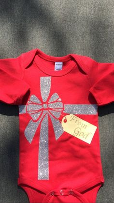 Baby Christmas Outfit - Christian Baby Gift - Baby First Christmas Outfit - Christmas Onesie - Baby Girl Christmas - Baby Boy Christmas Baby's First Christmas Outfit, Boys Christmas Outfits, Baby Girl Christmas, Babies First Christmas, Christmas Ideas, Christmas Gifts, 1st Christmas, First Halloween Costumes, Baby Costumes