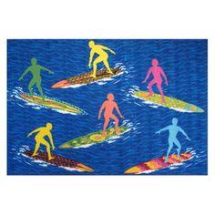 Fun Rugs Surf Time ST-23 Surfs R Us Area Rug - Multicolor - ST-23 3958