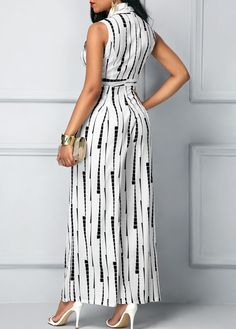 Trendy clothing on latest african fashion look Jumpsuits Rompers for women on sale African Fashion Dresses, African Dress, Fashion Outfits, Fashion Ideas, White Jumpsuit, Printed Jumpsuit, Silk Jumpsuit, Designer Jumpsuits, One Piece Outfit