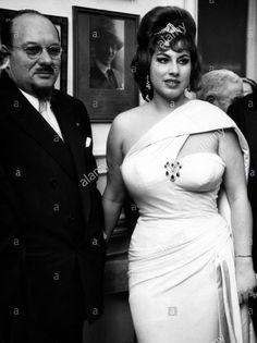 Former King Farouk of Egypt, Italian opera singer Irma Capece Minutolo, Naples, Italy, April 17, 1963.