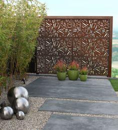 Marvelous Backyard Privacy Fence Decor Ideas on A Budget 57 Backyard Privacy, Small Backyard Landscaping, Landscaping Tips, Trellis For Privacy, Backyard Landscape Design, Corner Landscaping, Inexpensive Landscaping, Sloped Backyard, Privacy Screens