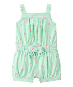 Look at this #zulilyfind! Sweet Mint Toucan Romper - Infant, Toddler & Girls #zulilyfinds