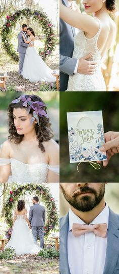 Outdoor Vows + A Giant Floral Wedding Ceremony Wreath! http://www.confettidaydreams.com/giant-floral-wedding-ceremony-wreath/ {Nicola Bester Photography}