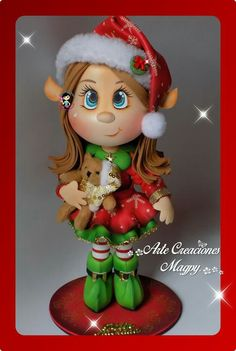 Fofucha Elf Decorations, Elf Christmas Decorations, Christmas Elf Costume, Christmas Toys, Box Surprise, Doll Face Paint, Polymer Clay Christmas, Shabby Chic Christmas, Rustic Christmas