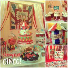 El #Circo de Greta! #candybar #ambientacion #piñata #deco #diseño #dulces #souvenirs