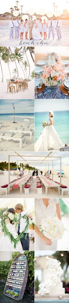 Beach Wedding Ideas - love the colored cushions