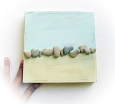 unique 3d wall decor  with actual heart shaped by MedBeachStones, $55.00