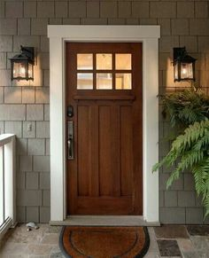 Stunning natural timber door - adds character to a period property