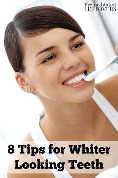 Do you want whiter teeth? Brighten your smile with these 8 tips for whiter looking teeth that are easy to do throughout the day. Beauty tips that are also good for your health.