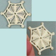 Delicate Antique Pierced Bone Thread Winder. French. c. 1830