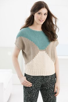 Knit Kit - Grand Lake Pullover includes: One black and white pattern copy ( Grand Lake Pullover) Small Kit: 2 balls Knitting Kits, Sweater Knitting Patterns, Knit Patterns, Knitting Projects, Baby Knitting, Summer Knitting, Knit Crochet, Knitwear, Grand Lake