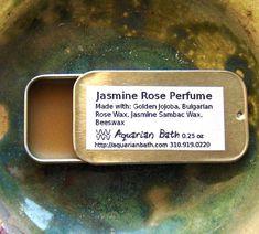 Jasmine Rose Perfume  Solid Perfume  Botanical by #AquarianBath, $15.00 #fb