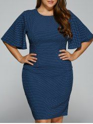 Fitted Polka Dot Plus Size Dress  SHARE & Get it FREE   For Fashion Lovers only:80,000+ Items • New Arrivals Daily • Affordable Casual to Chic for Every Occasion Join Sammydress: Get YOUR $50 NOW!