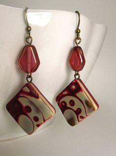 mokume gane earrings | Flickr - Photo Sharing!