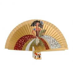 Abanico madera oro con menina pintada - Paula Alonso - Tienda online Easy Canvas Painting, Hand Fan, Drawings, Outfits, Hand Fans, Girls, Gypsy Drawing, Hearts Of Palms, Painted Fan