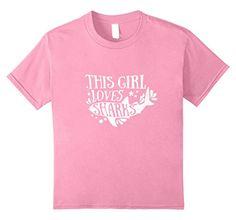 Kids This Girl Loves Sharks T-Shirt Gift Tee for Fans of ...