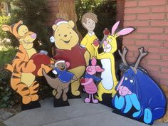 Winnie the Pooh full set by HolidayLawnCutouts on Etsy Wooden Christmas Yard Decorations, Christmas Yard Art, Christmas Fairy, Christmas Makes, Christmas Wood, Disney Christmas, Halloween Decorations, Christmas Ideas, Christmas Music