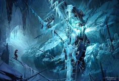 Title: Ice Ship Tomb - Rise of the Tomb Raider Concept Art  Artist: Yohann Schepacz OXAN STUDIO  Follow: @@yohannschepaczart