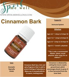 Cinnamon Bark Essential Oil, Young Living essential Oils, all natural living, dilution ratios