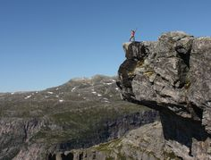 Preikestolen in Odda/Norway. Not the one in Stavanger, but definitive wurth a visit! 800 m free fall to the lake, and 20 min walk from Trolltunga