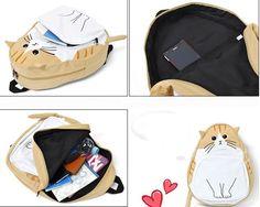 4 colores linda del gato de Kawaii mochila de lona SP166888 · · SpreePicky tienda en línea Desarrollado por Storenvy