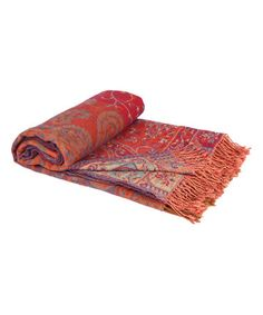 This Orange Antique Boil Wool Throw Blanket is perfect! #zulilyfinds