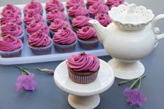 Cupcakes para la hora del té!