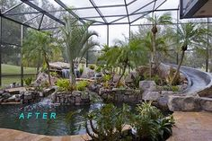 pool cage with planter - Google Search