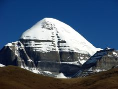 """Mount Kailash with small """"pyramid"""" on left. Iphone Wallpaper Mountains, Mountain Wallpaper, Kailash Mansarovar, Focus Images, Ancient Civilizations, Deities, Tibet, Google Images, Places To Visit"""