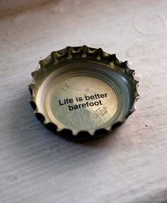 ❀⊱ . .  Life is better barefoot.
