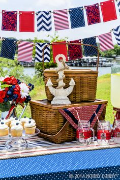 Anchors away! Labor Day is just around the bend and it's time to throw your party into high gear! We have just the things you need for a wave of nautical inspiration.