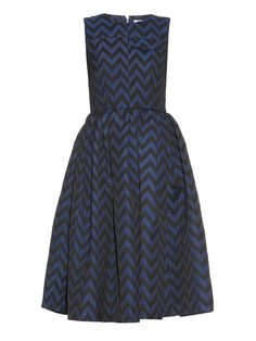 Zigzag-striped sleeveless midi dress | House Of Holland | MATCHESFASHION.COM UK