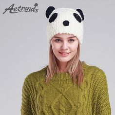 Cute Panda Beanies Winter Beanie Hats for Women Novelty Caps Z-3080 $14.36 => Save up to 60% and Free Shipping => Order Now! #fashion #woman #shop #diy www.scarfonline.n...