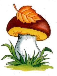 VK is the largest European social network with more than 100 million active users. Rock Crafts, Fall Crafts, Diy And Crafts, Crafts For Kids, Mushroom Crafts, Mushroom Art, Autumn Painting, Autumn Art, Leaf Coloring
