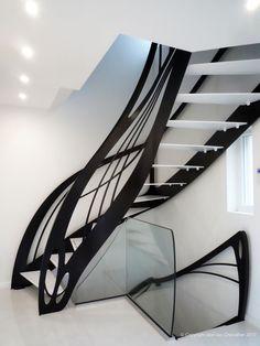 Escalier design dessiné par Jean Luc Chevallier pour La Stylique.