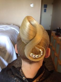 Fun pony tail variation. Dance Hairstyles, Wedding Hairstyles, Dress Makeup, Hair Makeup, Dance Competition Hair, Ballroom Dance Hair, Hair Designs, Hair Pieces, Healthy Hair