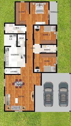 Sims House Plans, New House Plans, House Floor Plans, Minimalist House Design, Small House Design, Modern House Design, Minimalist Interior, Minimalist Bedroom, Village House Design