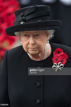 Queen Elizabeth II attends the annual Remembrance Sunday Service at the Cenotaph on Whitehall on November 8, 2015 in London, United Kingdom. People across the UK gather to pay tribute to service personnel who have died in the two World Wars and subsequent conflicts.  (Photo by Carl Court/Getty Images)