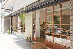 Cafe Interior Design, Interior Styling, Interior Architecture, Small Coffee Shop, Coffee Shops, Cafe Exterior, Shop Facade, Tin House, Minimal Home